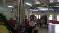 Malaysia tea processing plant 2 Stock Footage