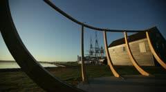 salem maritime park sunrise - stock footage