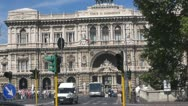 Urban Traffic, Italy Rome,Palace of Justice Stock Footage