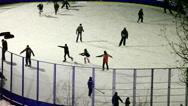 Ice skating. Stock Footage