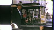 CABLE CAR San Francisco Street 1960s Vintage Film Old 8mm Home Movie 5343 Stock Footage