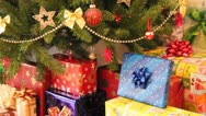 Stock Video Footage of gifts and christmas tree