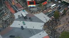 City Skyline Shopping Store Sunny Day Tokio Icon Landmark Shibuya Crossing Tokyo Stock Footage