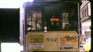 CABLE CAR San Francisco Street Scene 1960s Vintage Film Home Movie 5345 Stock Footage