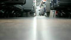 Floor on the train Stock Footage