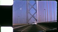 Drive GOLDEN GATE BRIDGE San Francisco 1960s Vintage Film Retro Home Movie 5348 Stock Footage
