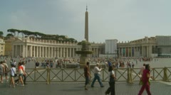 Two men admire St Peters square - stock footage