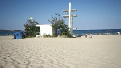 Beach at the end of the season. Stock Footage
