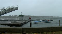 Pier at Yacht Club During Hurricane - stock footage