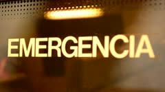 Visuals for vjs. emergency windows on barcelona trains Stock Footage