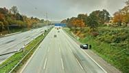 Autobahn Timelpase 06 Stock Footage