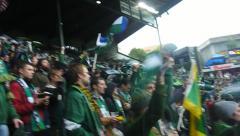 National Cheer in Stadium Stock Footage