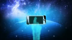 Global mobile Title sequence Stock Footage