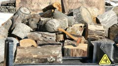 log splitter - stock footage