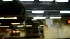 Visuals for vjs, public lighting on public transportation in barcelona catalu Stock Footage