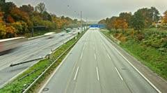 Autobahn Timelpase 07 Stock Footage