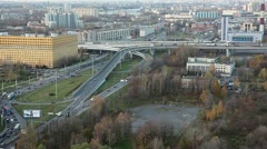 The interchange of the federal public road A-118, Saint-Petersburg Stock Footage
