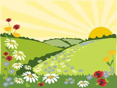 Flower trail Stock Illustration
