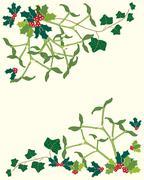 Holly and mistletoe Stock Illustration