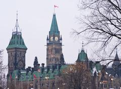 proud peace tower - stock photo