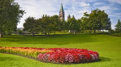 august peace tower - stock photo