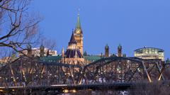 bridged parliament - stock photo