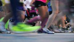 Marathon Tight Shot of Feet Stock Footage