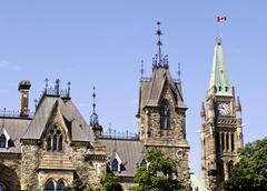 ottawa parliament - stock photo