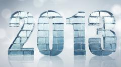 New year 2013 - with clipping path.. Stock Illustration