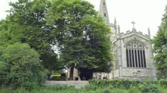 Holy Trinity Church from the River Avon Stock Footage