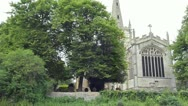 Stock Video Footage of Holy Trinity Church from the River Avon