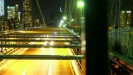 Stock Video Footage of Brooklyn Bridge Time Lapse Dolly