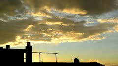 Sunrise, clouds moving and sun rays Stock Footage