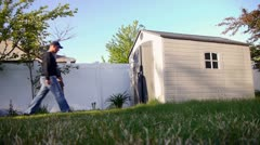 lawn mow 15 - stock footage
