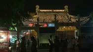 Timelapse Tourist visit Nanjing Confucius Temple (Fuzimiao) by night,China Stock Footage