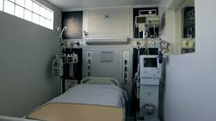 Hospital Bedroom for quarantine Stock Footage