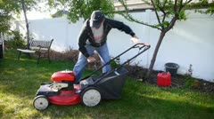 Lawn mow 6 Stock Footage