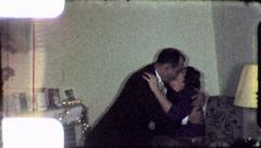 LOVING COUPLE Kissing Husband Wife 1960s Vintage FILM Home Movie 5357 Stock Footage