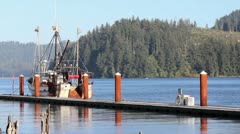 720p A dock along the river Stock Footage