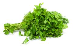 Stock Photo of parsley on a white background