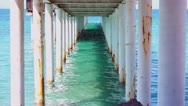 Under the Boardwalk Down by the Sea Stock Footage