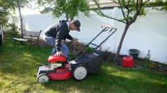 lawn mow 4 - stock footage