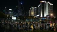 Stock Video Footage of Flash Mob in Shenzhen, SEZ, China, Exercise, Fitness, Chinese Dance, time lapse