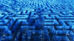 Business 3d maze Stock Footage