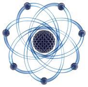 Atom - 3D render Stock Illustration
