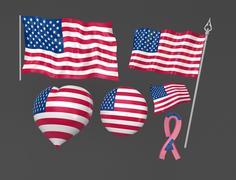 United States, Washington flag national symbolic - stock illustration