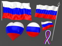 Russia, Moscow flag national symbolic Stock Illustration