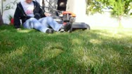 Lawn mow 16 Stock Footage