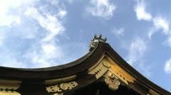 Nishihonganji roof timelapse Stock Footage