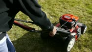 Lawn mow 2 Stock Footage